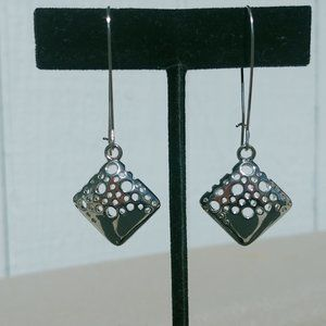 Jewelry - Silver Tone Artistic Earrings